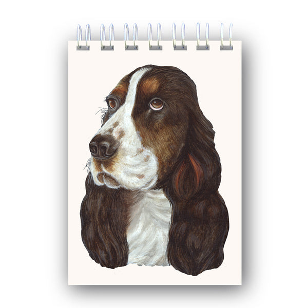 A6 Cocker Spaniel Wire Bound Notebook from Dormouse Cards