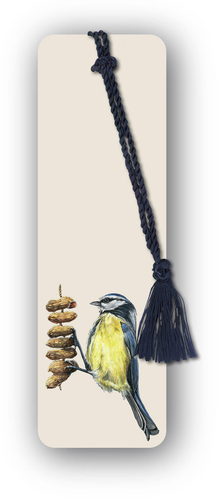 Blue Tit Perched on Peanuts Bookmark from Dormouse Cards