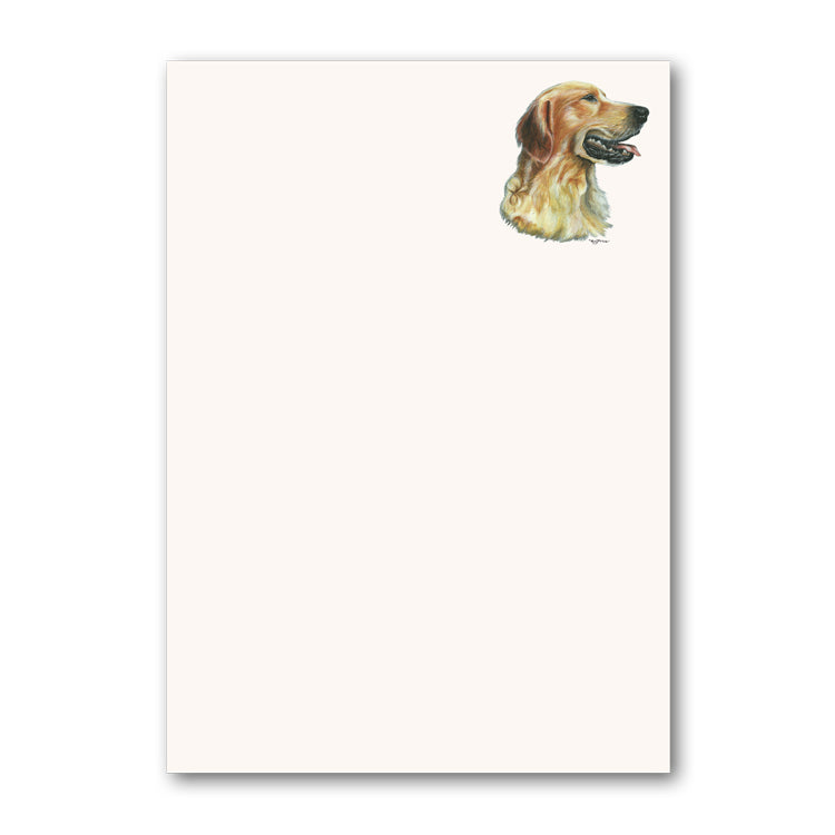 Pack of 5 Golden Retriever Notepaper from Dormouse Cards