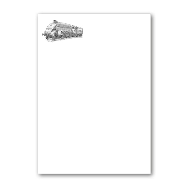 Pack of Mallard Steam Train Notepaper from Dormouse Cards