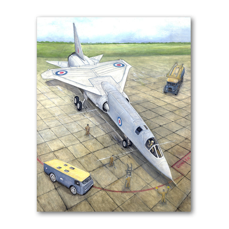 Pack of 5 TSR-2 Aeroplane Notelets from Dormouse Cards