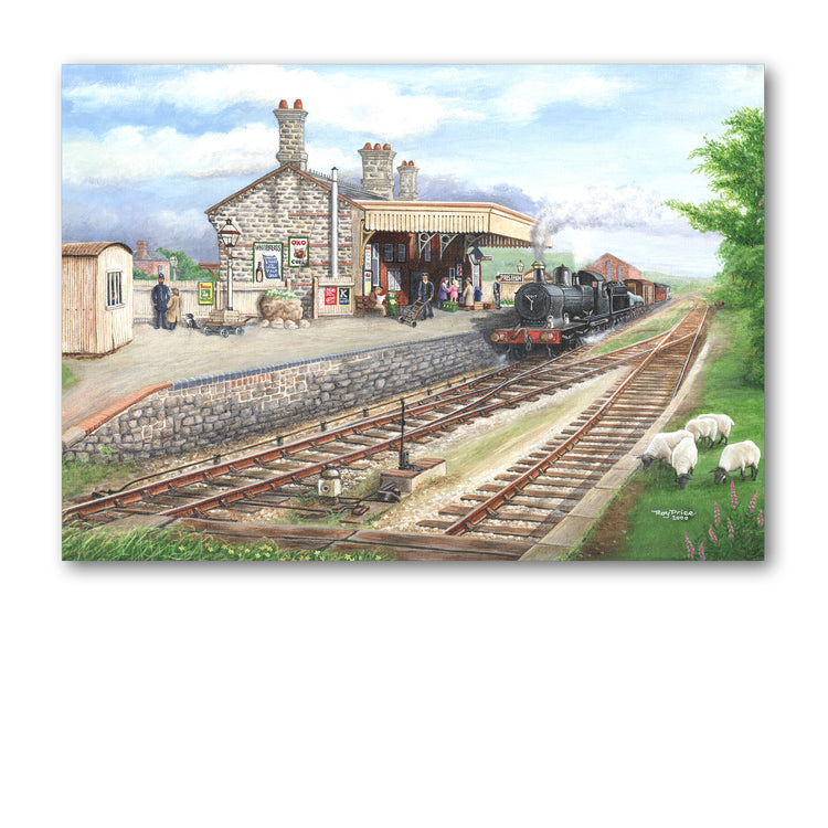 Presteigne Railway Station Greetings Card from Dormouse Cards