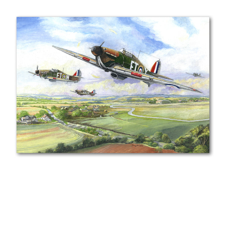Hurricane in Flight Father's Day Card from Dormouse Cards