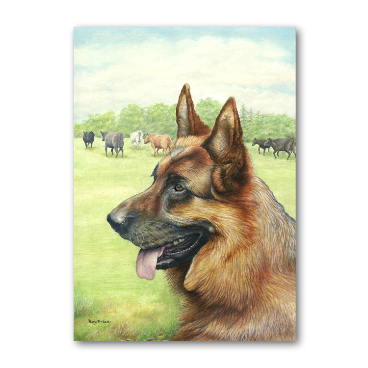 Pack of 5 Alsatian Notelets from Dormouse Cards
