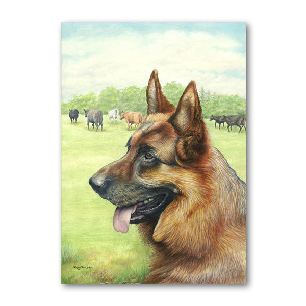Alsatian German Shepherd Birthday Card from Dormouse Cards