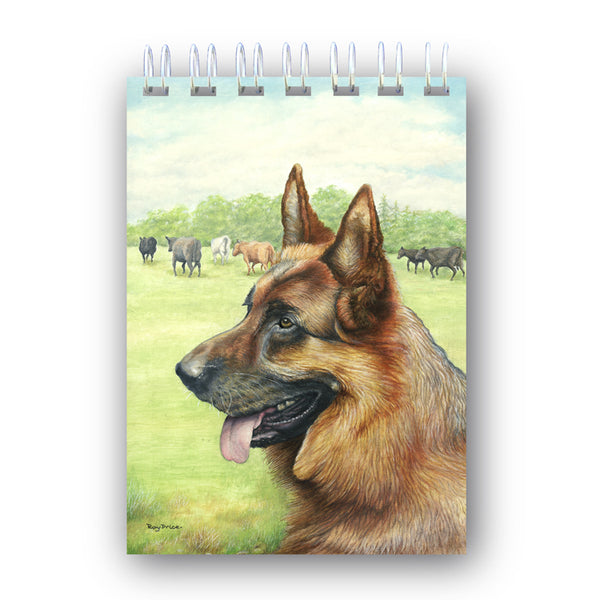 A6 Wire Bound Alsatian German Shepherd Dog Notebook from Dormouse Cards