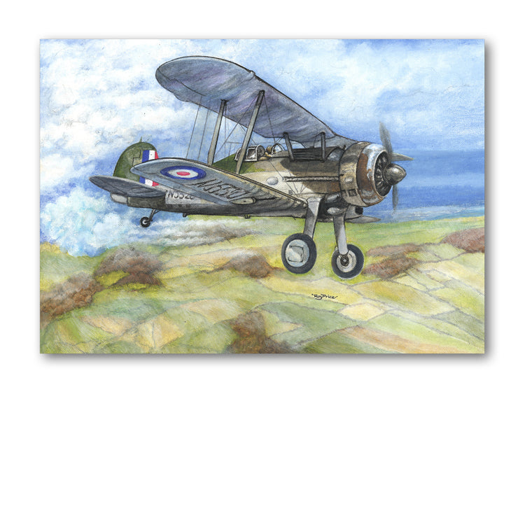Pack of 5 Gloster Gladiator Notelets from Dormouse Cards