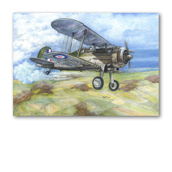 Gloster Gladiator Father's Day Card from Dormouse Cards