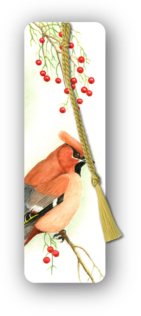 Cedar Waxwing Bookmark from Dormouse Cards