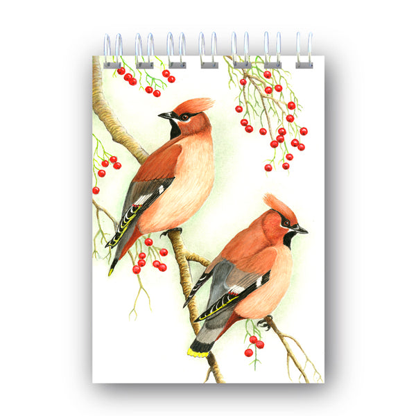 A6 Wire Bound Cedar Waxwing Notebook from dormouse Cards