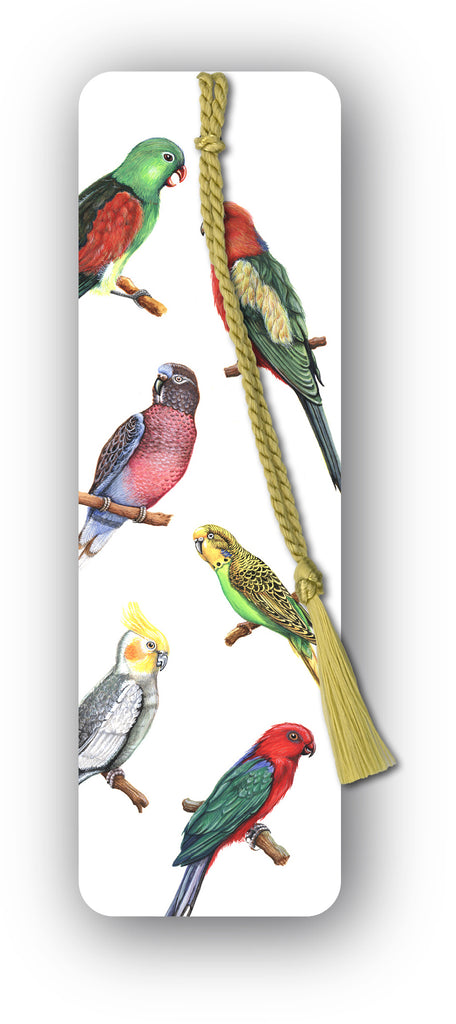 Exotic Birds Bookmark from Dormouse Cards