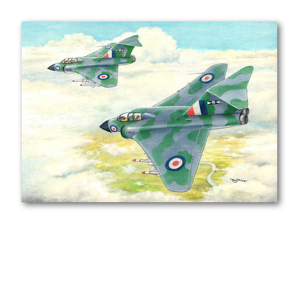 Pack of 5 Gloster Javelin Notelets from Dormouse Cards