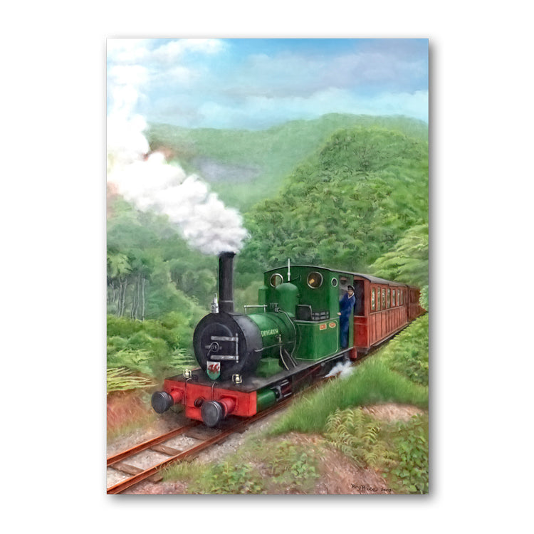 Pack of 10 Welsh Narrow Gauge Steam Train Gift Tags from Dormouse Cards