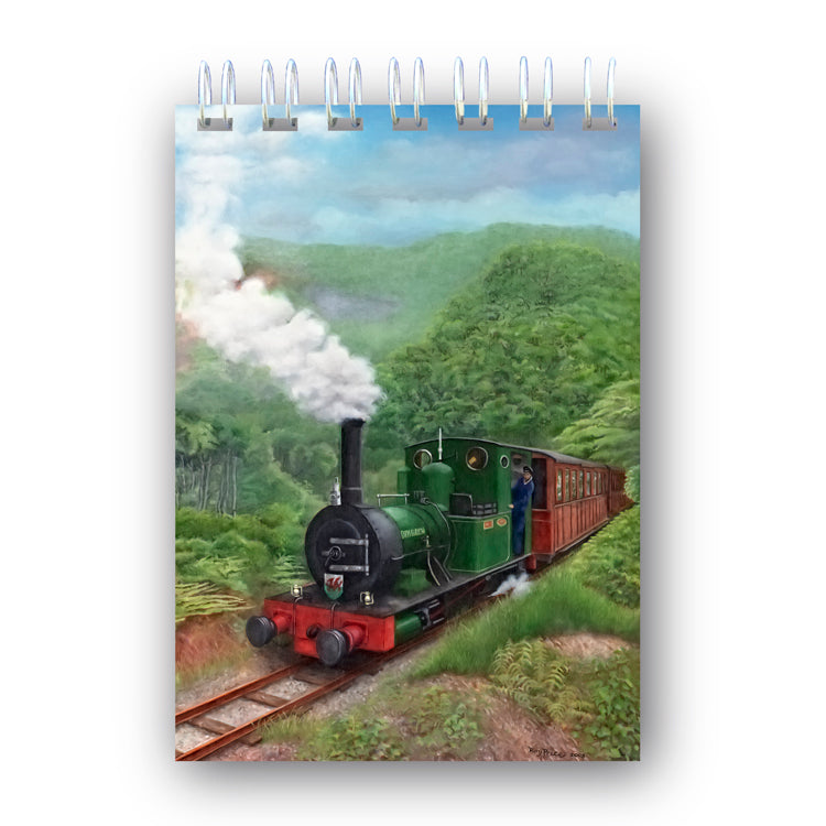 A6 Wire Bound Welsh Narrow Gauge Steam Train Notebook from Dormouse Cards