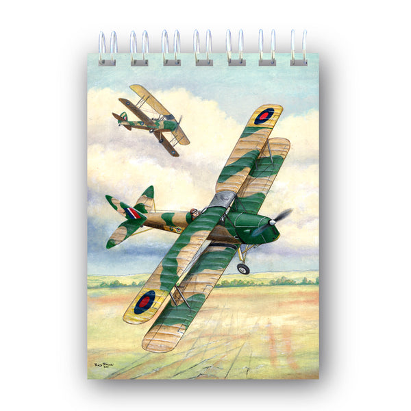 A6 De Havilland Tiger Moth Biplane Notebook