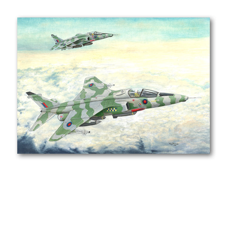 RAF Jaguar Plane Greetings Card from Dormouse Cards