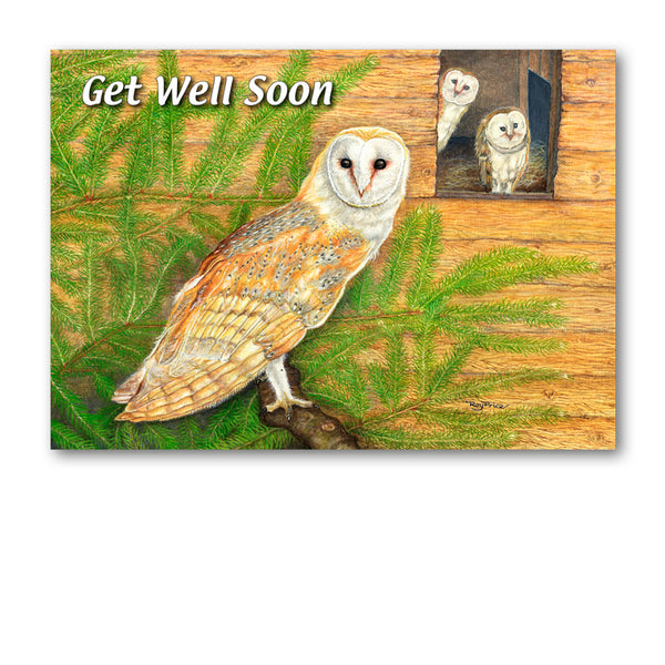 Barn Owl Get Well Soon Card from Dormouse Cards