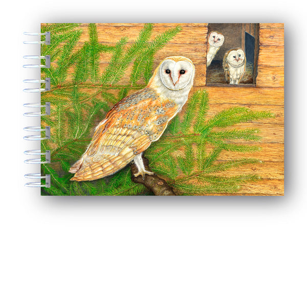 Barn Owl Notebook from Dormouse Cards