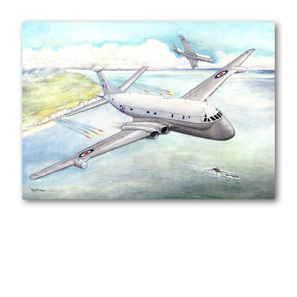 Pack of 5 Notelets Nimrod Anti-Submarine Warfare