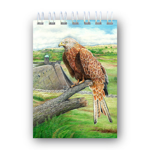 A6 Wire Bound Notebook Red Kite Elan Valley Powys Wales from Dormouse Cards