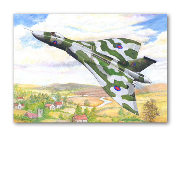 Avro Vulcan Greetings Card from Dormouse Cards