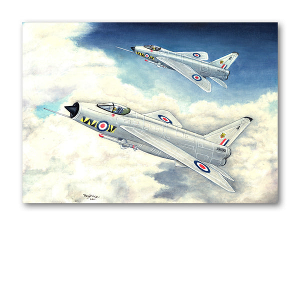 Pack of 5 A6 Notelets English Electric BAC Lighning Fighters from Dormouse Cards