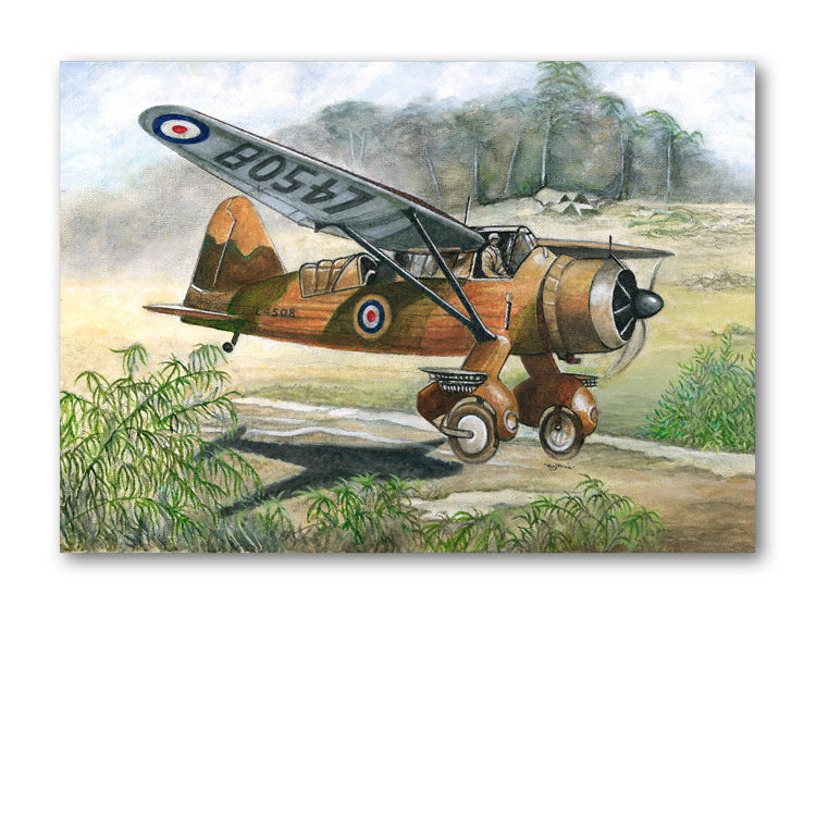 Pack of 5 Westland Lysander Notelets from Dormouse Cards
