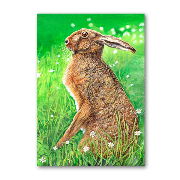 Brown Hare Greetings Card from Dormouse Cards