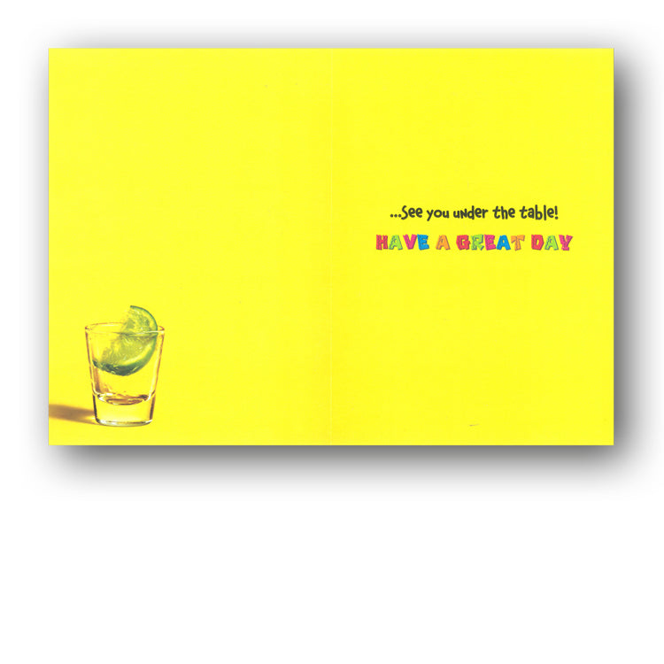 Funny Chipmunk Drinking Tequila Avanti 18th Birthday Card from Dormouse Cards