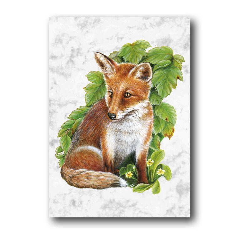 Fine Art Fox Greetings Birthday Card from Dormouse Cards