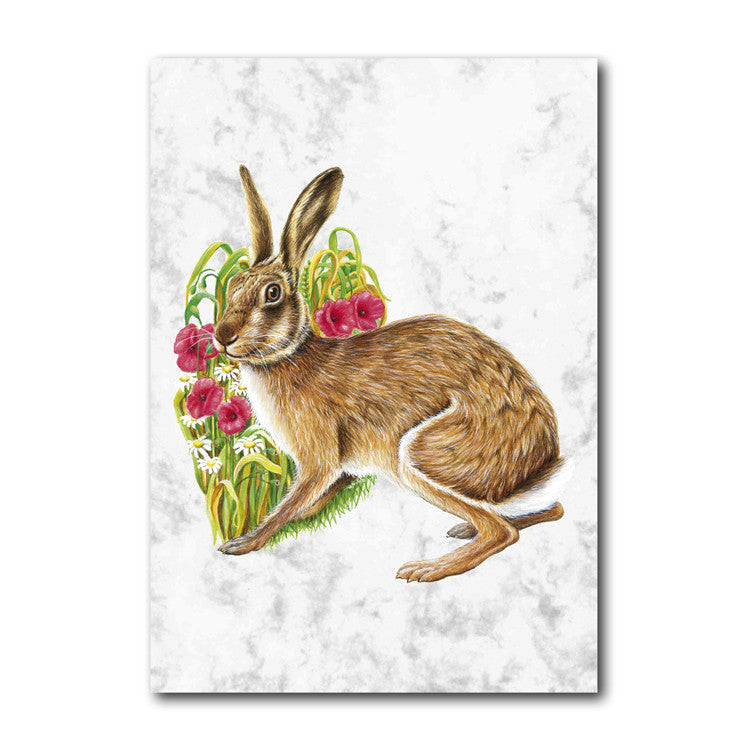 Fine Art Hare Greetings Card from Dormouse Cards