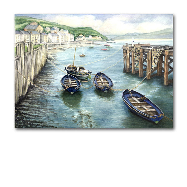 Greetings Card - Boats at Aberdovey from Dormouse Cards