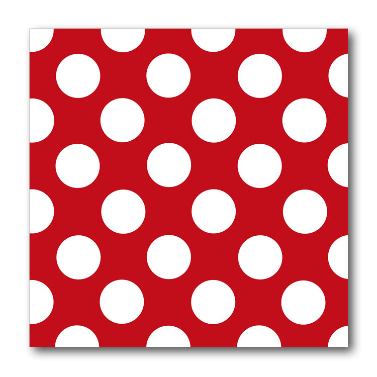 Red and White Polka Dot Notelets from Dormouse Cards