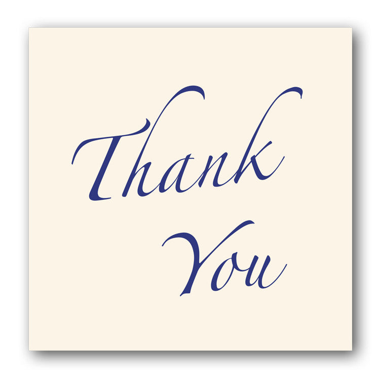 Thank You Card on Sparkly Cream board from Dormouse Cards