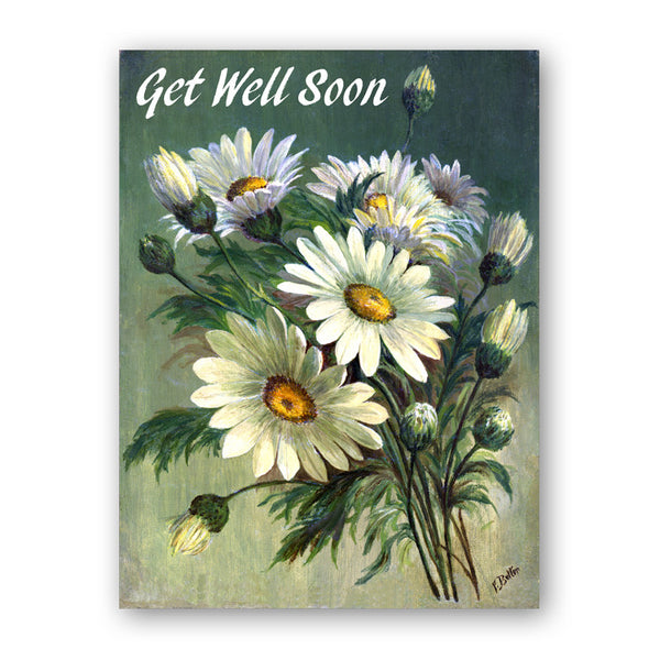 Fine Art Marguerites Get Well Soon Card from Dormouse Cards