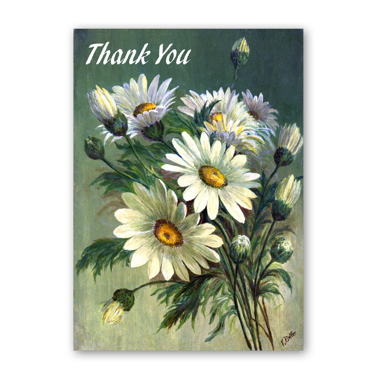 Fine Art Marguerites Thank You Card from Dormouse Cards
