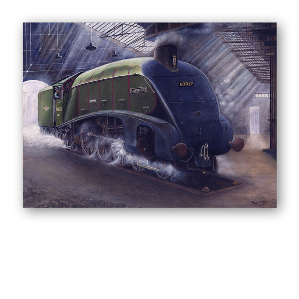 Fine Art Silver Fox Steam Train Father's Day Card from Dormouse Cards