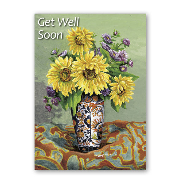 Fine Art Sunflower Get Well Soon Card from Dormouse Cards