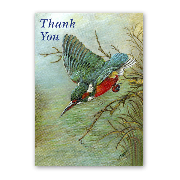 Art Print Kingfisher Thank You Card from Dormouse Cards