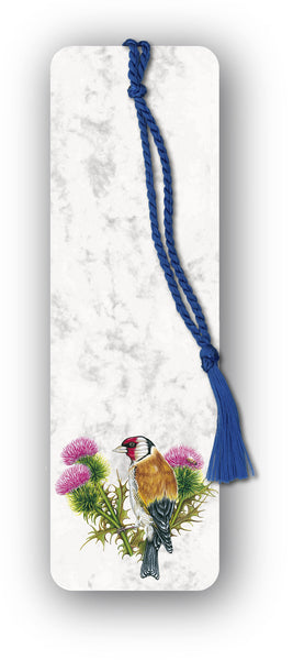 Goldfinch Bookmark on marble board from Dormouse Cards