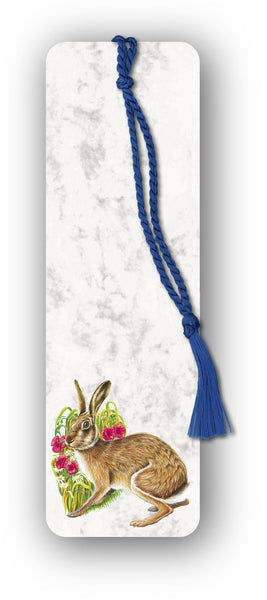 Hare Bookmark on marble board from Dormouse Cards