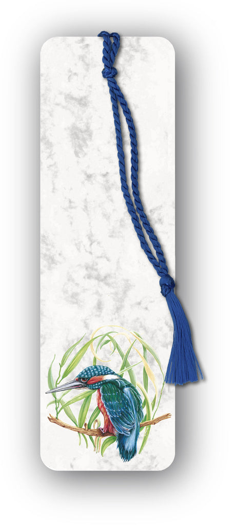 Kingfisher Bookmark on marble board on Dormouse Cards