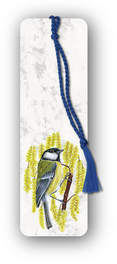 Great Tit Bookmark on marble board from Dormouse Cards