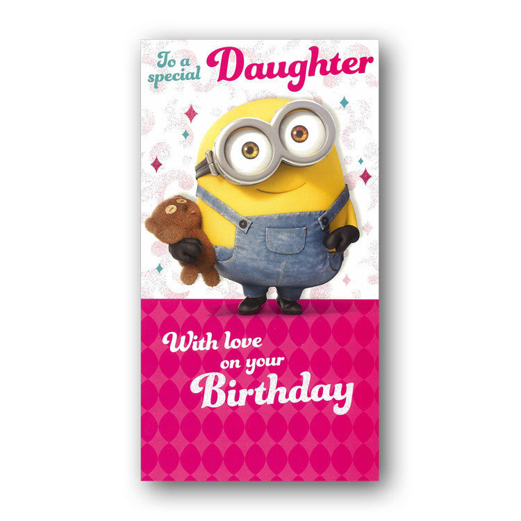 Minions birthday card daughter dormouse cards minion birthday card daughter from dormouse cards bookmarktalkfo Image collections