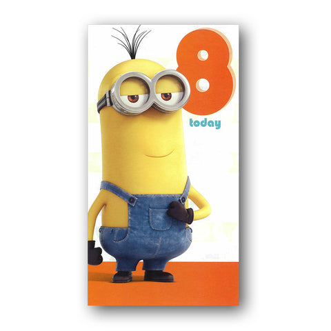 Minions 8th Birthday Card From Dormouse Cards