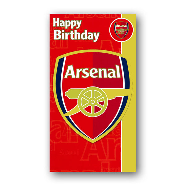 Arsenal Football Club Birthday Card from Dormouse Cards