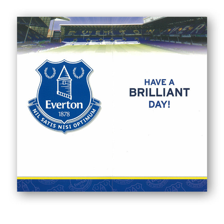 Everton Birthday Card from Dormouse Cards