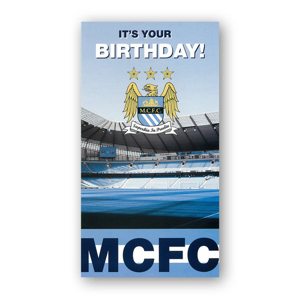 Manchester City Birthday Card from Dormouse Cards