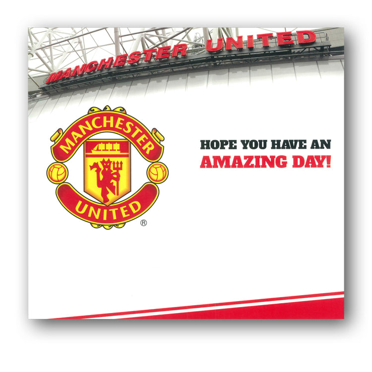 Manchester United Birthday Card from Dormouse Cards