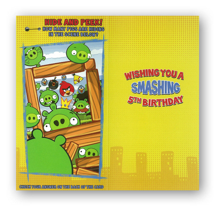 Angry Birds 5th Birthday Card from Dormouse Cards